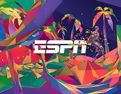 Visual conception for the ESPN Special Olympic World Games graphics package.