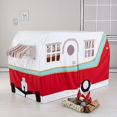 Camper tent... I believe it's big enough to fit a twin size mattress...