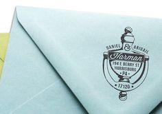 Custom Address Rubber Stamp - Classic No. 8