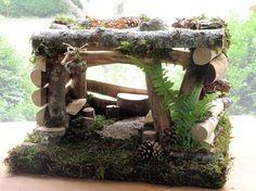 Garden Fairy House Woodland Cottage Bedroom Custom Handmade - Laurie Rohner Studio