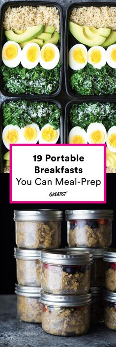 19 portable breakfast recipes you can meal-prep.