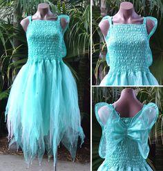 ADULT WOMEN Tinkerbell Fairy Fancy Dress Fantasy Costume - Mint/Pink #MoonflyDesigns #Dress #FairyDress