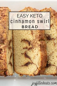 Nothing is more delicious or comforting than this Keto Cinnamon Bread. Plus, it's really easy to make and is the perfect breakfast. One thing is for sure; this is a low carb cinnamon bread recipe you are going to want to try. It's also gluten free and grain free too and works great for french toast and french toast casserole! Sugar Free Desserts, Low Carb Desserts, Gluten Free Desserts, Low Carb Recipes, Free Recipes, Keto Dessert Easy, Dessert Recipes, Cinnamon Swirl Bread, Artisan Bread Recipes