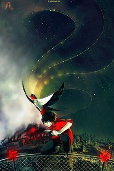 Knite: Bringer of Stars by yuumei  Art from a breathtakingly beautiful web/flash comic about a group of kids who fly kites to bring stars back to the polluted skies of China. Go, click through and read!