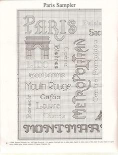 Paris landmarks lettering