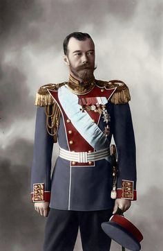 Tsar Nicholas II of Russia wearing his Life-Guards Grenadier Regiment uniform