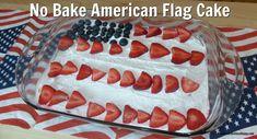 No Bake American Flag Cake