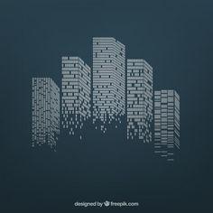 Preto E Branco Skyline Da Cidade Free Black Cityscape Drawing - City skylines turned into geometric metropolises by scott uminga