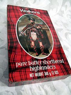 ... Pure Butter Shortbread Highlanders Tin KING GEORGE IV Scotland RARE