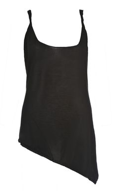 Jolly Roger black top-Super cool sheer knit tank with twisted strap.