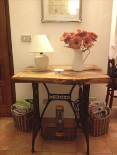Antique Sewing Machine Table, Antique Sewing Machines, Sewing Table, Repurposed, Singer, Antiques, Furniture, Home Decor, Mesas