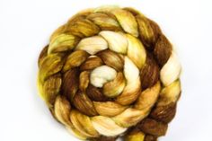 Warm Cider BFL and Silk Spinning Fiber 108g 3.8oz, $17.75 by Unwind Yarn Company love these colors!