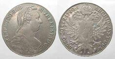 1780 Haus Habsburg AUSTRIA Thaler 1780 S.F. Vienna (ca.1890) MARIA THERESA silver VF+ # 82216 VF+