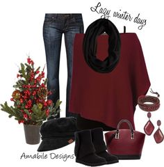 """""""Lazy Winter Day"""" by amabiledesigns on Polyvore"""