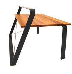 RIG | MBzwo - lackierter Stahl und Massivholz. Praktisches Rig zum Aufhängen und Ablegen von Schreibtisch Accessoires.