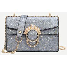 Faux Pearl Decor Chain Bag ( 16) ❤ liked on Polyvore featuring bags 6e40f906f8edb