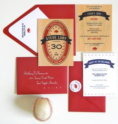 Beer-Themed 30th Birthday Party Invitations