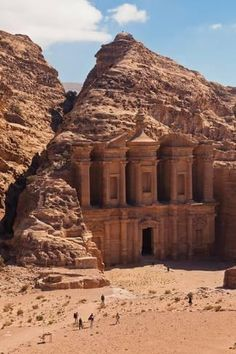 size: Photographic Print: Ruins of Ad Deir Monastery at Ancient Nabatean City of Petra, Wadi Musa, Ma'an Governorate, Jordan : Fine Art Great Buildings And Structures, Ancient Buildings, Ancient Architecture, Beautiful Places To Travel, Cool Places To Visit, Places To Go, City Of Petra, Ancient Ruins, Travel Aesthetic