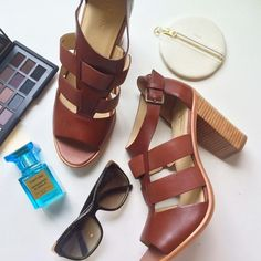 Cole Haan Shoes - Cole Haan Leather Stacked Heel Sandals on Poshmark