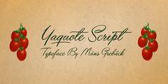 Yaquote Script | dafont.com