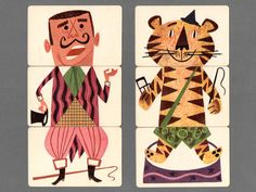 Mixies Vintage Illustration Cards
