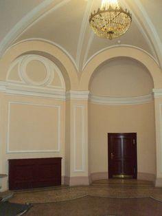 Ancien Hôtel Particulier du Ministre de la Guerre - 4 Rue Sadoya - Saint Petersbourg - Construit de 1872 à 1874 par l'architecte Rudolf Bogdanovich Bernhard - Aujourd'hui Hôtel Saint Michel - Le Grand Escalier.