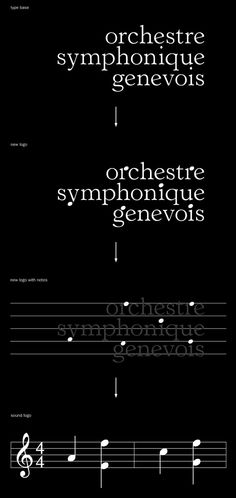 Orchestre symphonique Genevois brand - what a killer brand! the common sense its so powerfull.