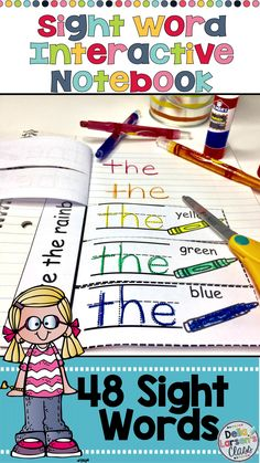 An interactive notebook to increase reading fluency of sight words. A fun hands on activity for kindergarten reading block. Increase reading fluency for your struggling readers, ELL's and special needs students. This resource works great with homeschool families. This no prep printable is fun for the kids to color, cut and paste. The finished product makes a great portfolio for parents. This is a complete set of 48 sight words, including DIBLES. Great product to use while you are having…