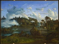 Giclee Print: The Tarn by Lars Hertervig : Landscape Art, Landscape Paintings, Oil Paintings, Google Art Project, Romantic Paintings, Nordic Art, Magic Realism, Canadian Art, Modigliani