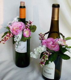 wine bottle wedding centerpieces | Vineyard Wedding Centerpieces Wine Bottle toppers custom Deposit for ...