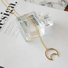 W3331 fashion Gilded Sailor Moon Pendant Necklaces Crescent Allah NecklaceFor Women Lovers Bridesmaid Gifts