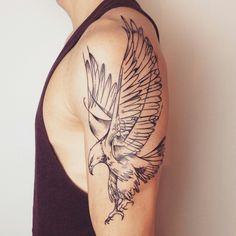 Biker Tattoos, Map Tattoos, Eagle Tattoos, Badass Tattoos, Sleeve Tattoos, Tattoos For Guys, Tatoos, Eagle Tattoo Forearm, Eagle Chest Tattoo