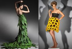 Dresses+Made+Out+of+Flowers | dresses made of flowers and petals/leaves