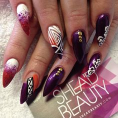 Pretty nails did by Charlly #nails #nailart...