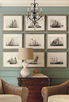 Captivating in their simplicity, our Regatta photo reproductions showcase majestic sailboats on the high seas. The black and off-white coloring accentuates the crisp angles of the masts.