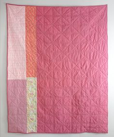 Pieced Backs-Pink Squares Quilt Back | Sew DIY