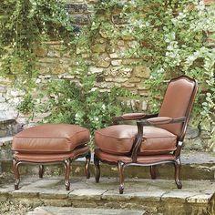 Julietta Bergere Chair & Ottoman  - now available at ballarddesigns.com