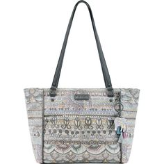 Sakroots Artist Circle Medium Tote - Pastel One World - Totes ($69) ❤ liked on Polyvore featuring bags, handbags, tote bags, print, print tote bags, pocket tote bag, sakroots handbags, medium tote bag and zippered tote bag