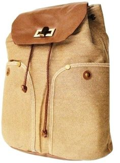 College backpack $30 Amazon.com: European Style Khaki Canvas Drawstring Closure Casual Backpack Rucksack: Sports & Outdoors