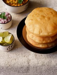 Bhatura recipe with step by step photos – Bhatura or Bhature is one of the most popular punjabi recipe. Bhatura are thick leavened fried Indian bread. Indian Bread Recipes, North Indian Recipes, Indian Breads, Indian Dishes, Bhatura Recipe, Chaat Recipe, Punjabi Food, Punjabi Recipes, Gujarati Food