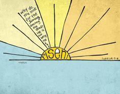 He Is Risen! {Free Easter Art Printable}