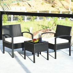 This set of outdoor furniture is made of high-quality rattan and strong steel, which is durable and has a long service life. The thick soft cushions are comfortable and breathable, which can relieve your fatigue of the whole day. Removable seat covers and tempered glass table tops are easy to clean. Modern and stylish lines make this furniture set a perfect embellishment for backyard, patio, balcony or any other outdoor space!