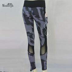 Amazing Price $18.30, Buy Monbeeph Leggings Ladies Stretch Pencil Pants Female Pants skinny Trousers and capris Spliced pants