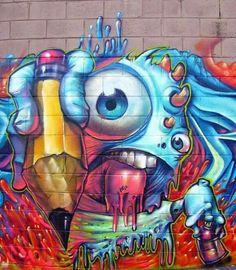 Streetart Ovolo, Graffiti Character, Graffiti Streetart, Streetart Urbanart, Street Art Graffiti, Graffiti Art
