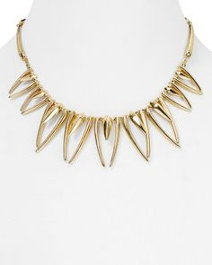 AQUA Carmen Collar Necklace, 12.5"