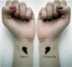 Best Friend Tattoos - Oh, really? Because those hearts don't fit together. < and who would get matching tattoos? Friendships can end. Bff Tattoos, Dream Tattoos, Couple Tattoos, Future Tattoos, Tatoos, Sleeve Tattoos, Wrist Tattoos Girls, Cute Tattoos On Wrist, Awesome Tattoos