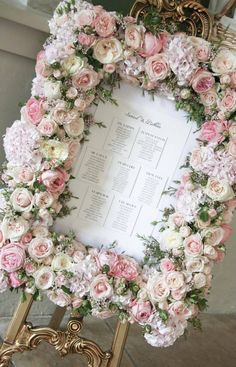 Floral border for table seating plan - designed by Paula Rooney Wedding & Events. Wedding Reception Seating Arrangement, Seating Plan Wedding, Wedding Flower Arrangements, Wedding Centerpieces, Wedding Table, Floral Arrangements, Wedding Decorations, Seating Plans, Table Seating