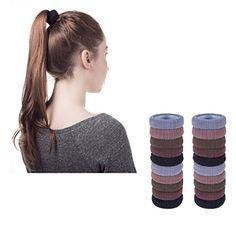 Pack of 12 Hair Bobbles Snag Free Jersey Hair Elastics Girls Hair Accessories