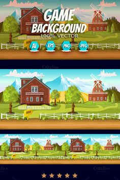Farm Game Background by VitaliyVill on @graphicsmag