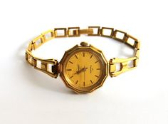 Awesome Gold Soviet vintage watch made in 80s.  Gold Soviet Vintage Watch Mechanical Vympel with awesome dial. Watch in great new condition. Works
